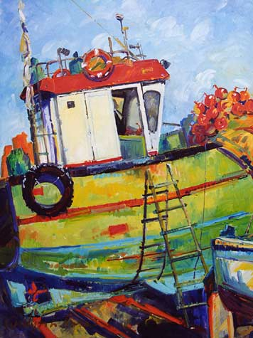 Closeup of Fishing Boat
